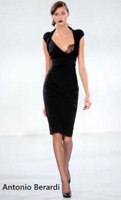 Маленькое черное платье украшенное